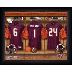 Virginia Tech College Football Locker Room Framed Print