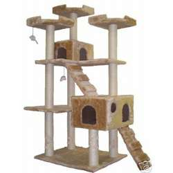 72 Inch Beige Cat Tree