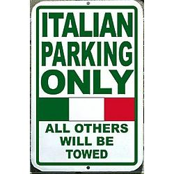Personalized Nationality Parking Sign