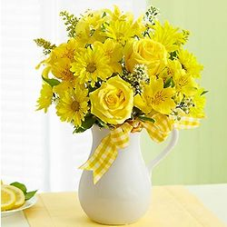 Pitcher of Sunshine Bouquet of Flowers
