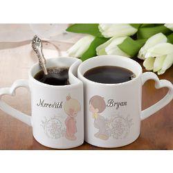 Personalized Precious Moments Couples Coffee Mug Set