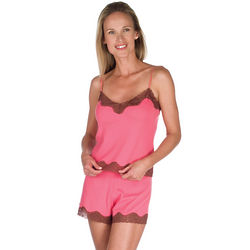 Pink Pointelle Cami-Style Short Set