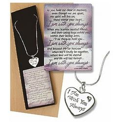 I am with You Always Sympathy Necklace and Card