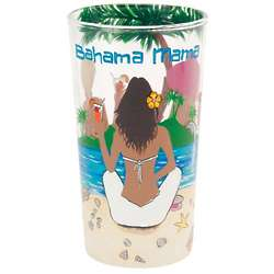 Bahama Mama Painted Cocktail Glass
