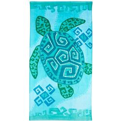Geo Sea Turtle Beach Towel