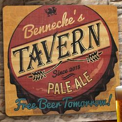 Free Beer Tomorrow Customized Wooden Sign