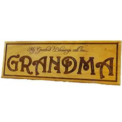 My Greatest Blessings Call Me Personalized Wood Sign