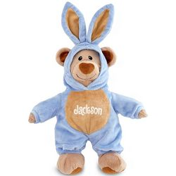 Personalized Blue Bunny Bear Stuffed Animal
