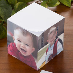 You Picture It Four Photo Custom Paper Note Cube