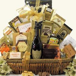 Grand Gourmet Dom Perignon Champagne Gift Basket