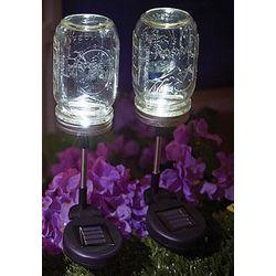 Solar-Powered Mason Jar Stake Light