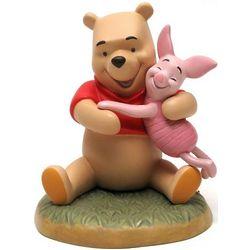 Stone Resin Winnie the Pooh Hugging Piglet Figurine