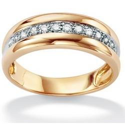 Men's Diamond 10K Wedding Band
