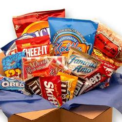 College Care Package of Snacks
