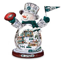 Philadelphia Eagles Masterpiece Edition Crystal Snowman Figurine