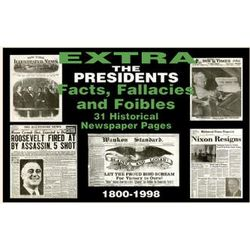U.S. Presidential Facts Historical Replica Newspaper Set
