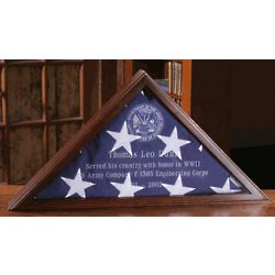 Personalized Cherry or Walnut Case for Burial Flag