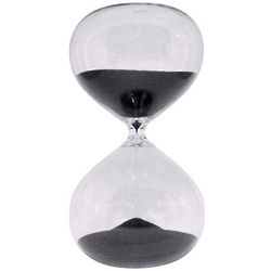 Hourglass Black Sand Timer
