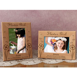 Personalized Lovable Flower Girl Wooden Picture Frame