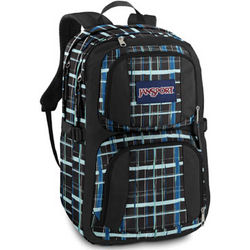Merit Navy Painted Plaid Backpack
