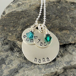 Grandma Personalized Hand Stamped Necklace