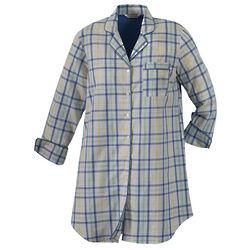 Plaid Night Shirt Gown