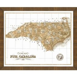 Old Map of North Carolina Framed Print