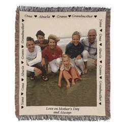 Portrait Grandma Photo Blanket