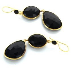 Majestical Midnight Black Dangle Earrings