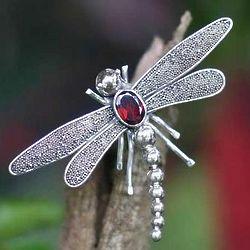 Enchanted Dragonfly Brooch Pin