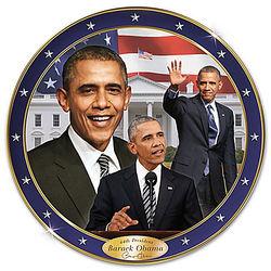 Barack Obama American Milestone Porcelain Collector Plate