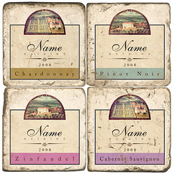 Personalized Wine Coasters Set