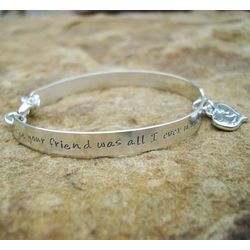 Friend & Lover Hand Stamped Sterling Bracelet