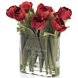 Red Tulip Flower Arrangement Gift