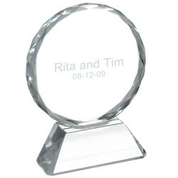 Round Optic Glass Disk Award