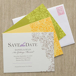 Custom Floral Save the Date Cards