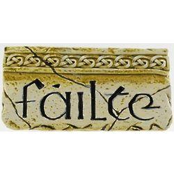 Failte Stone-Look Plaque