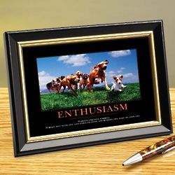Enthusiasm Dogs Framed Desktop Print