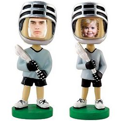 Photo Frame Face Lacrosse Bobblehead