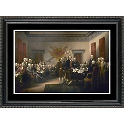 Declaration of Independence Draft to Congress Framed Print