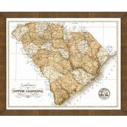 Old Map of South Carolina Framed Print