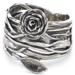 Rose on the Vine Ring