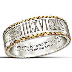 Men's Message of Faith Ring