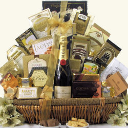 Grand Gourmet Moet & Chandon Imperial Champagne Gift Basket