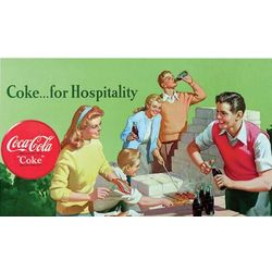 Vintage Coke For Hospitality Gallery-Wrapped Art Print