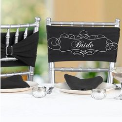 Bridal Party Chair Sashes