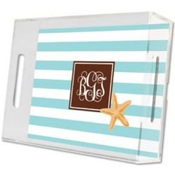 Personalized Design Small Lucite Tray