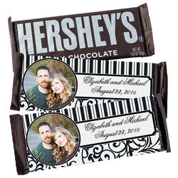 Wedding Custom Photo Black and White Candy Bars