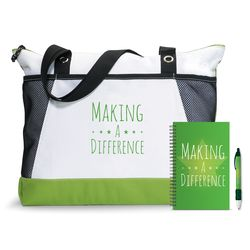 Making a Difference Motivational Tote Gift Set