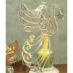Yuletide Angel Luminary Candle Holder